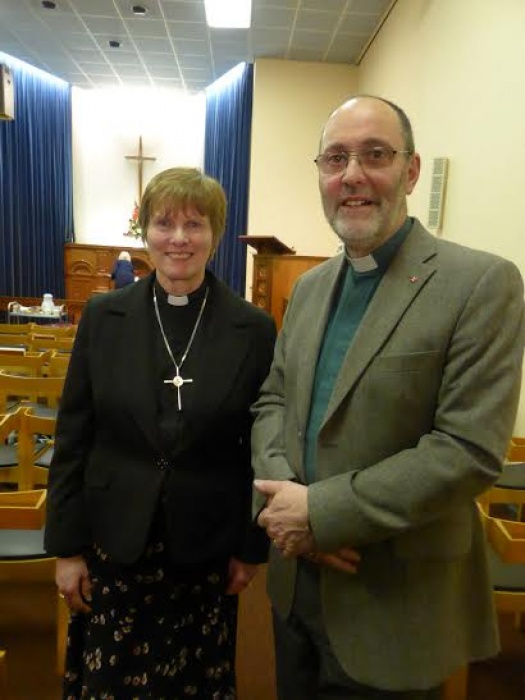 Revds Ruth Gee and Richard Hall